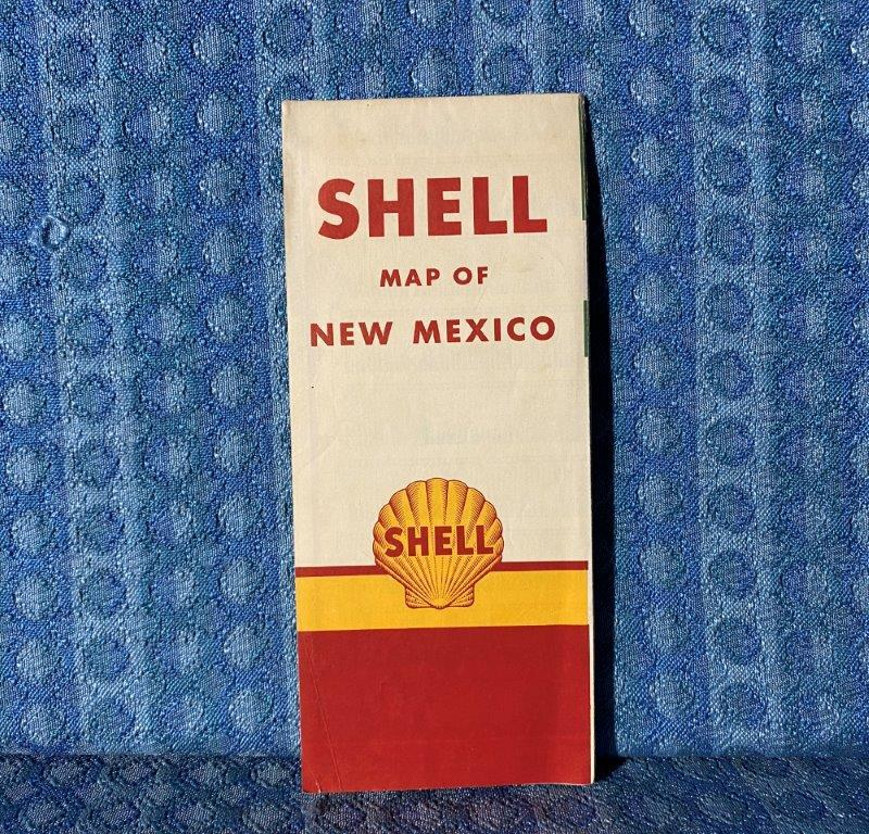 1956 New Mexico Shell Original Road Map