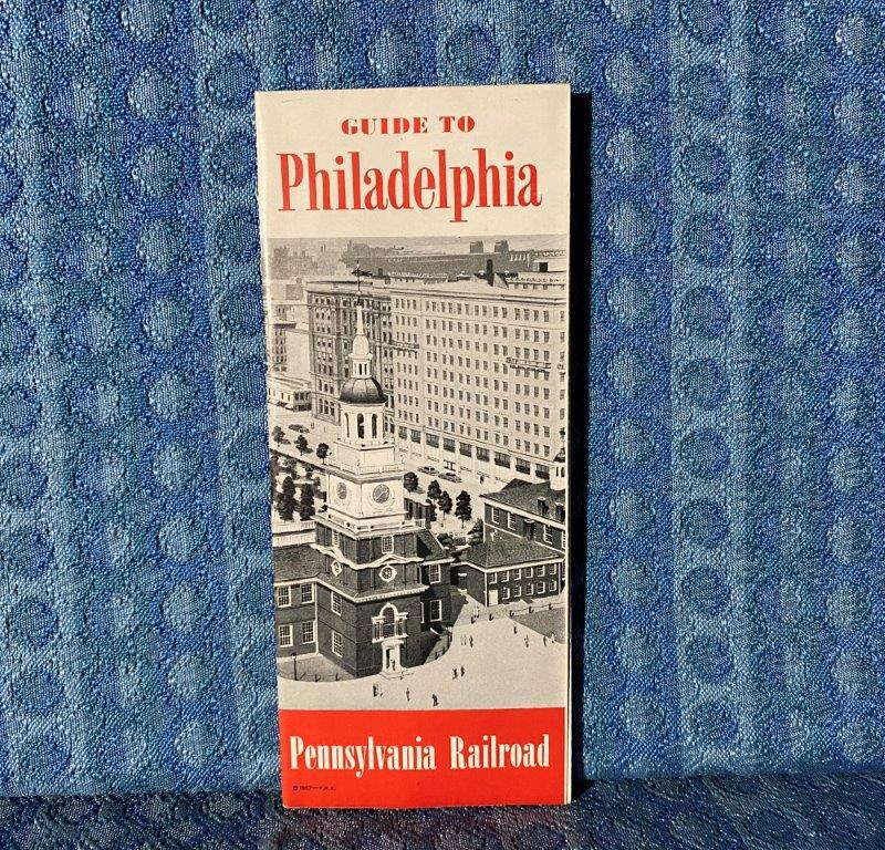 1957 Pennsylvania Railroad Guide to Philadelphia Pictorial Site Map Original
