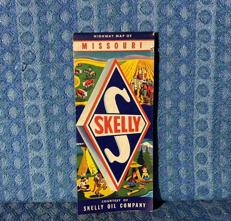 1958 Skelly Oil Co. Highway Map of Missouri Original Road Map