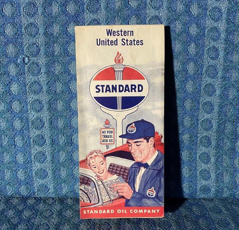 1960 Standard Oil Western United States Original Road Map