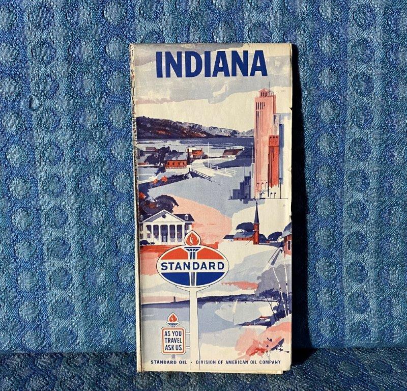 1962 Standard Oil Indiana Original Road Map