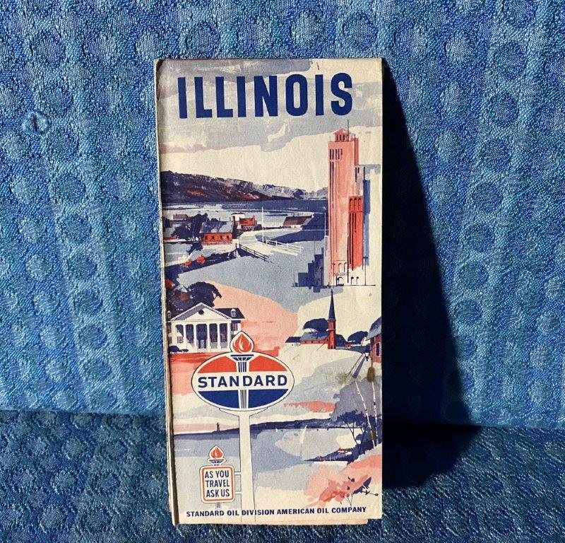 1964 Standard Oil Illinois Original Road Map