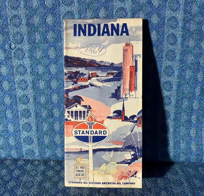 1964 Standard Oil Indiana Original Road Map