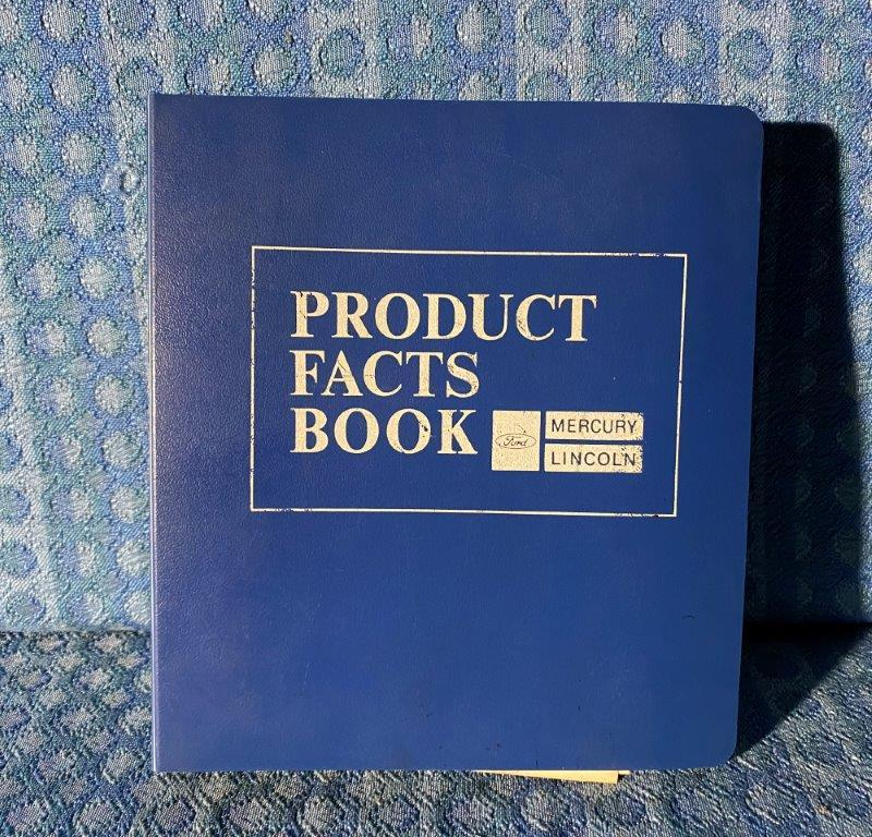1974 Mercury Products Facts Book Dealer Only Cougar XR7 Montego Marquis Monterey