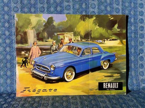 1957 Renault Fregate Original Large Sales Brochure for U.S. / Canadian Market