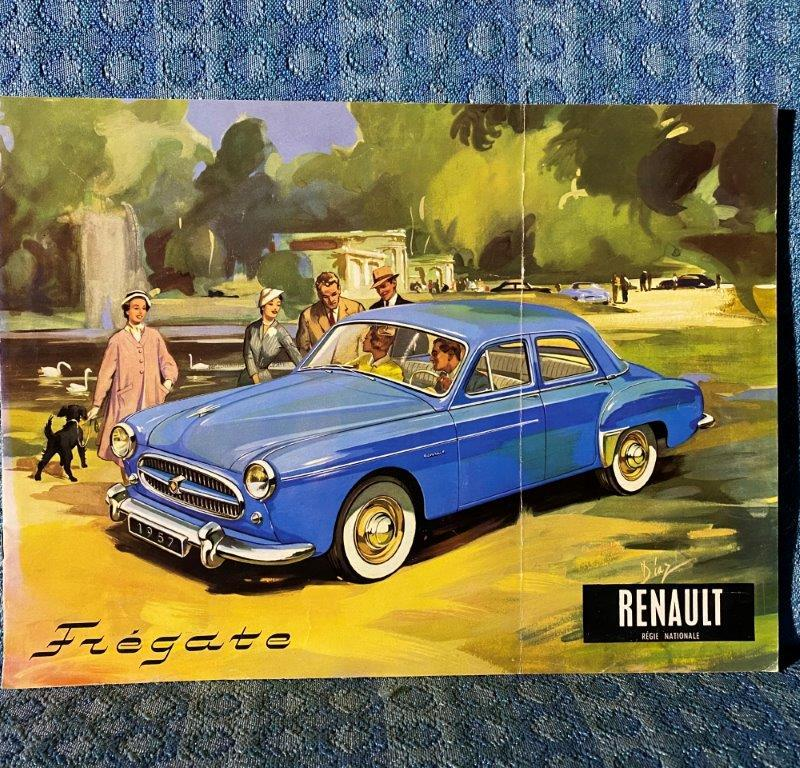 1957 Renault Fregate Original Large Sales Brochure for U.S. / Canadian Market
