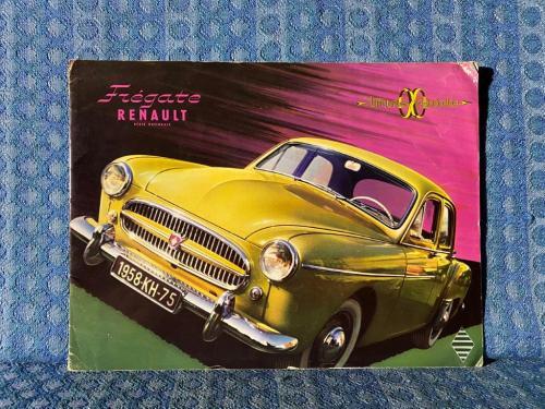 1958 Renault Fregate Original Large Sales Brochure for U.S. Market