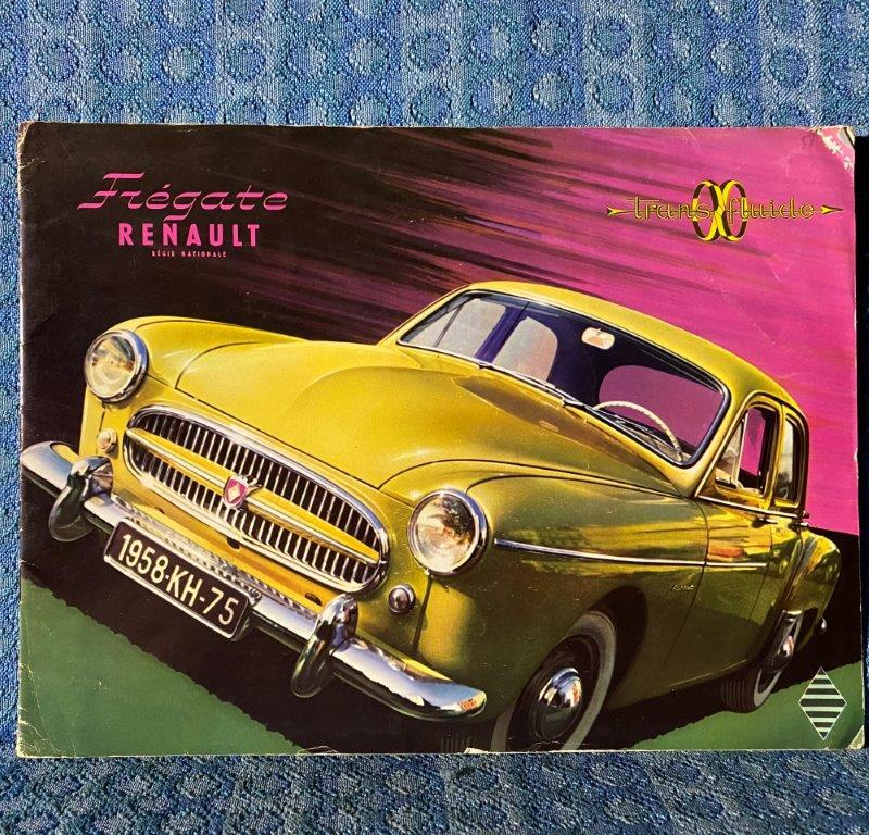 1958 Renault Fregate Original Large Sales Brochure for U.S. Market