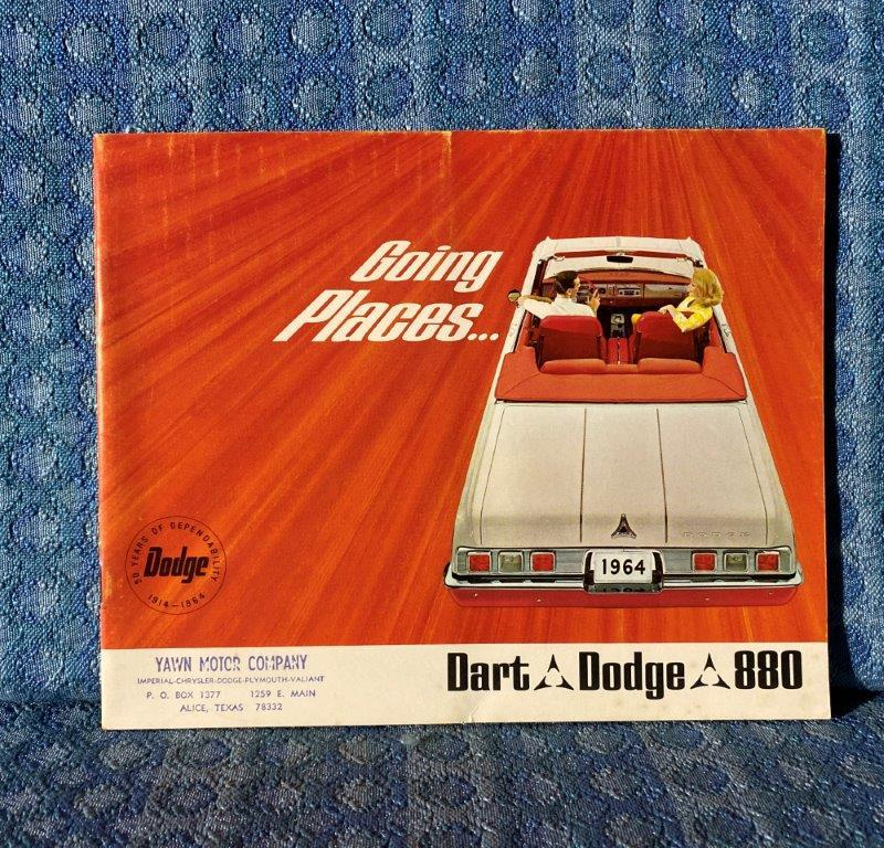 1964 Dodge Dart GT, Polara 500, Custom 880 Original Sales Brochure / Catalog