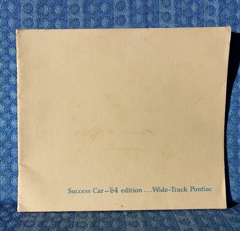1964 Pontiac Original DeLuxe Sales Brochure Bonneville, Star Chief, Catalina