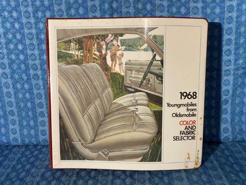 1968 Oldsmobile Dealer Only Color & Upholstery Album Toronado 98 88 442 Cutlass