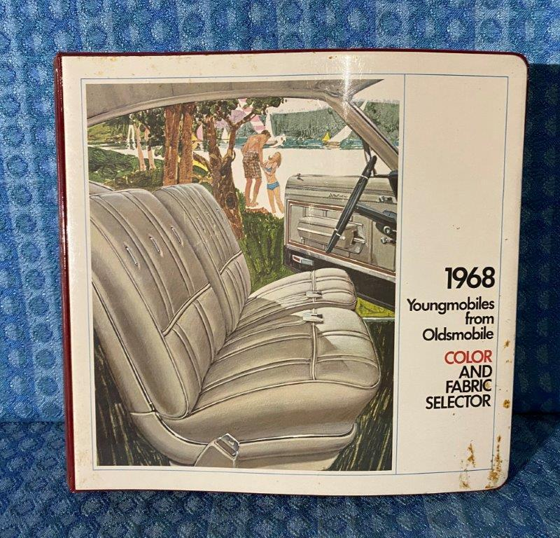 1968 Oldsmobile Dealer Only Color & Upholstery Album Toronado 98 88 442 Cutlass