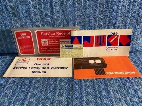 1969 AMC Ambassador Original Owners Manual Package w/ Env & ID Card 5 Piece Set