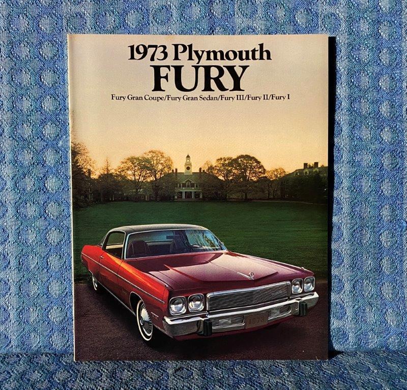 1973 Plymouth Fury Original Sales Catalog