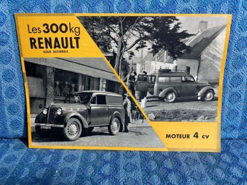 1955 Les 300kg Renault Moteur 4 CV Original French Sales Brochure