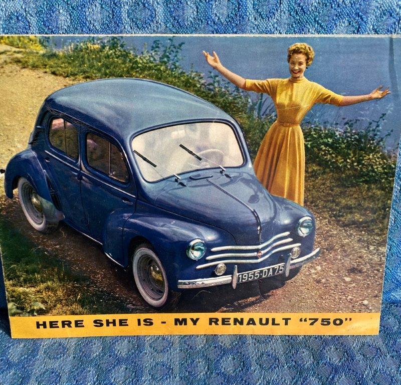 1955 Renault 750 Original Sales Brochure in English