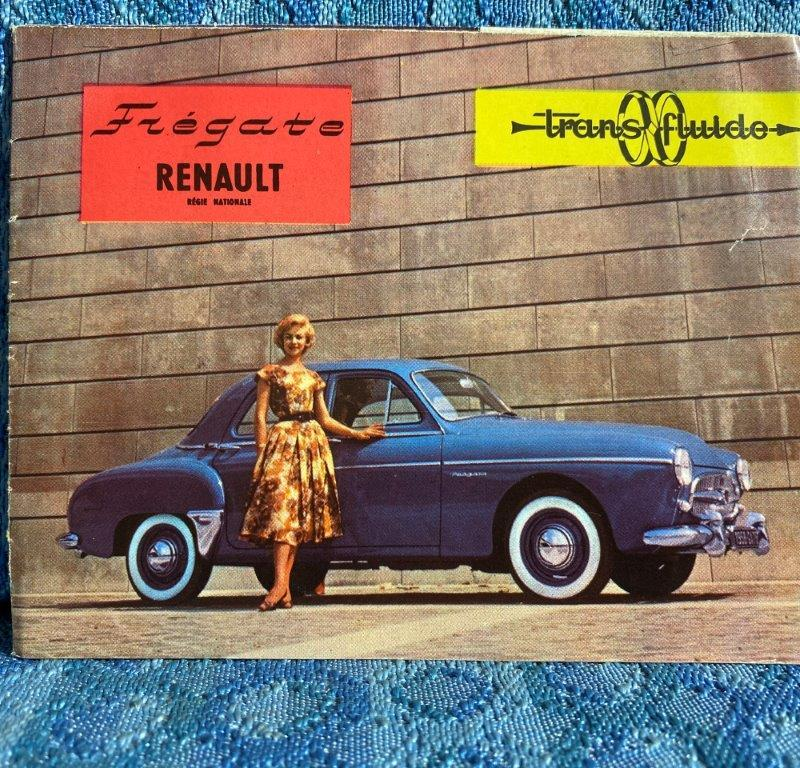 1958 Renault Fregate with Trans-Fluid Original French Sales Brochure / Folder