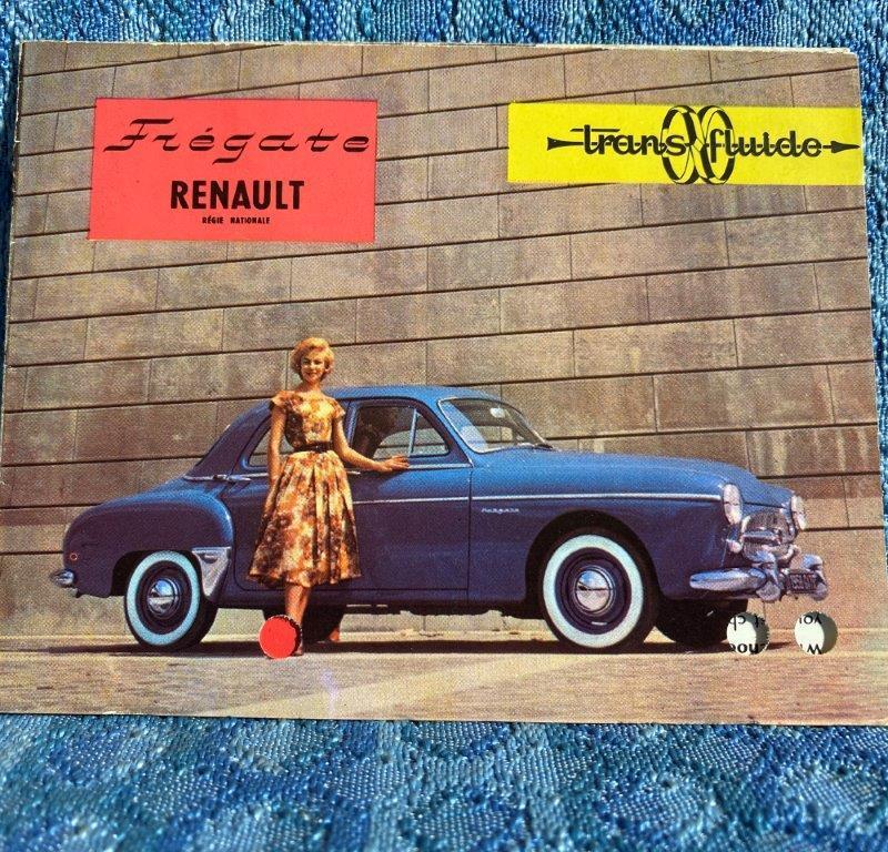 1958 Renault Fregate with Trans-Fluid Original Sales Brochure Folder in English