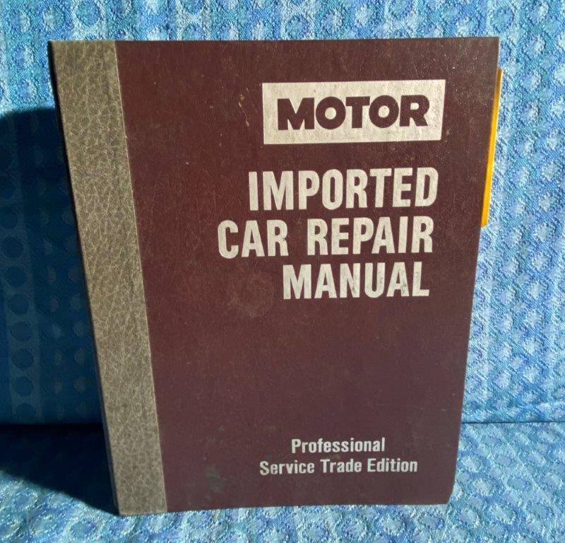 1984-1988 Motor Import Car Repair Manual Jaguar Sabaru BMW Audi Volvo VW Toyota