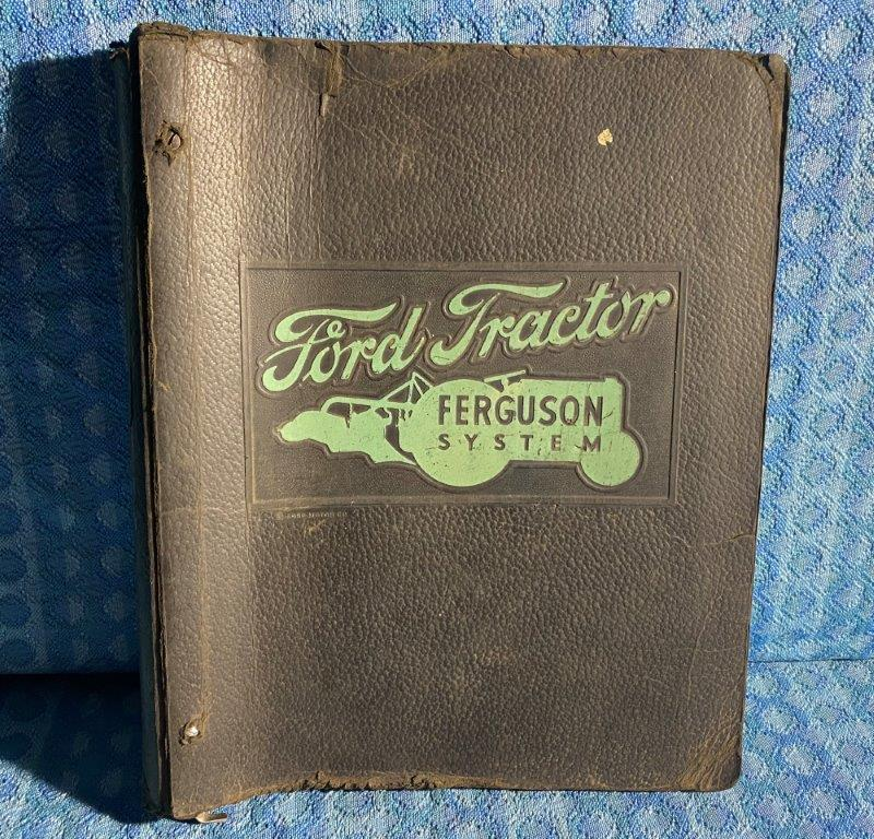 Circa 1940-1945 Ford Tractor Ferguson System Embossed Notebook (Binder Only)
