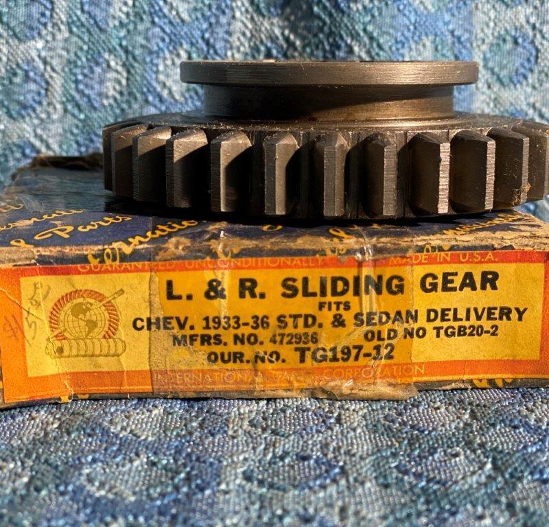 1933-1936 Chevrolet Standard NORS 3 Spd Transmission Gear 1st & Reverse #472936
