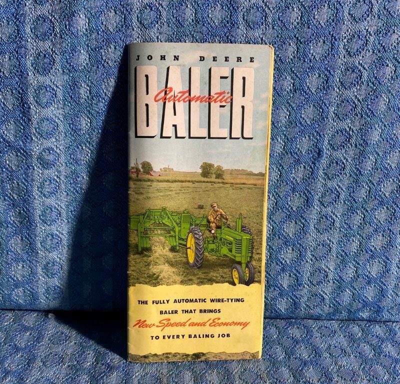 1952 John Deere Automatic Baler Original 20 Page Sales Catalog
