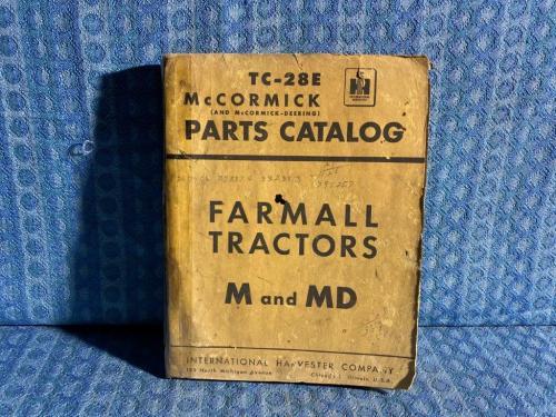 International-Harvester Farmall M & MD Tractor Original Parts Catalog