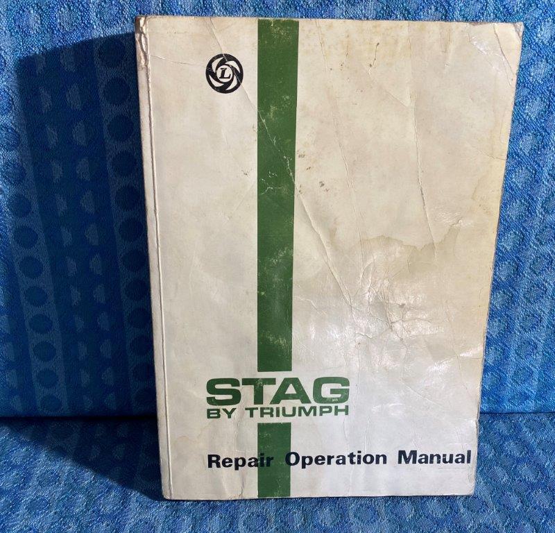 Original Factory Repair Manual for 1976-1978 Triumph Stag