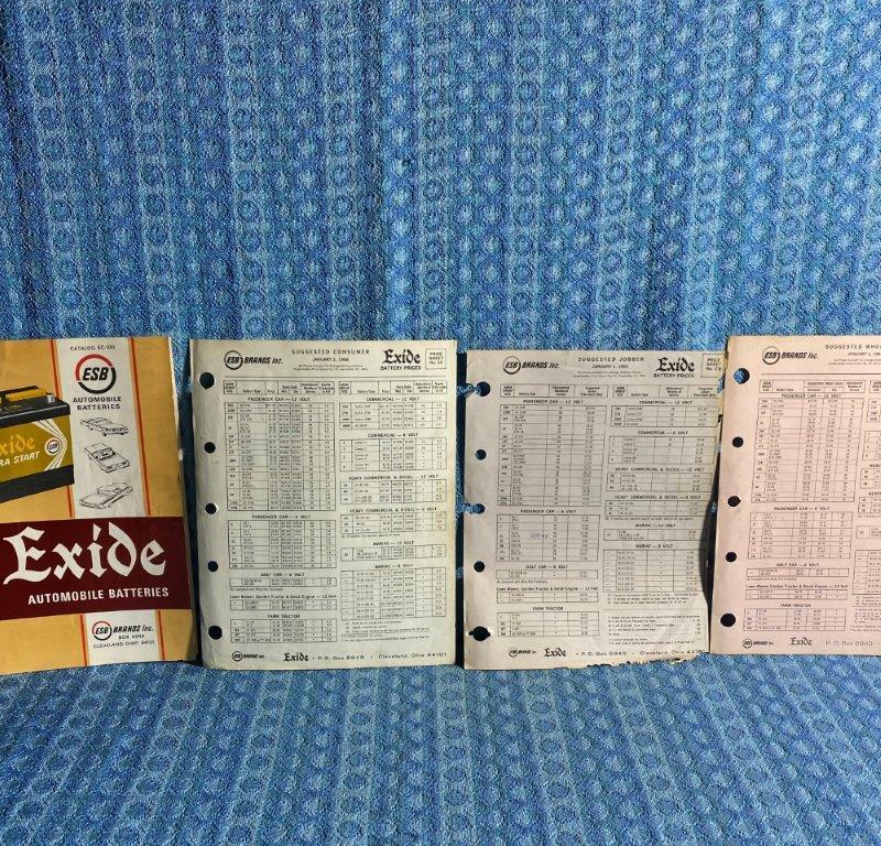 1950-1965 Exide Battery Automobile Application Catalog GM Ford Mpar AMC 53 55 59
