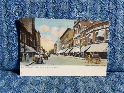C. 1904 La Crosse Wisconsin 4th St N. of Pearl St Original R.TUCK Postcard