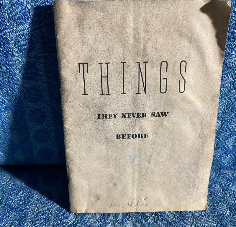 "1936 Hudson ""Things They Never Saw Before"" Original Sales Booklet"