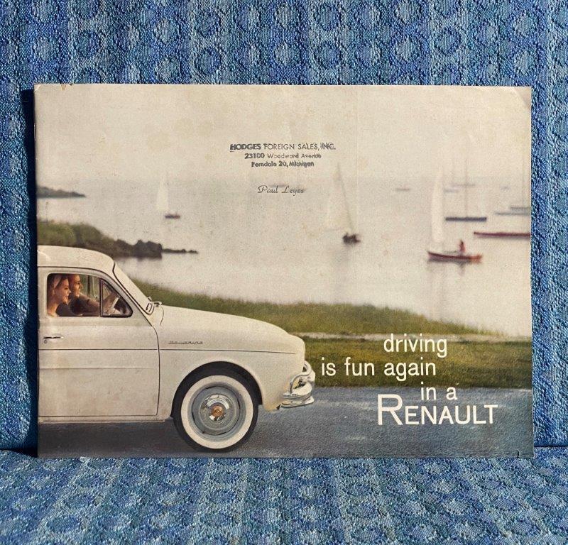 1958 Renault Original Sales Brochure Dauphine 4CV