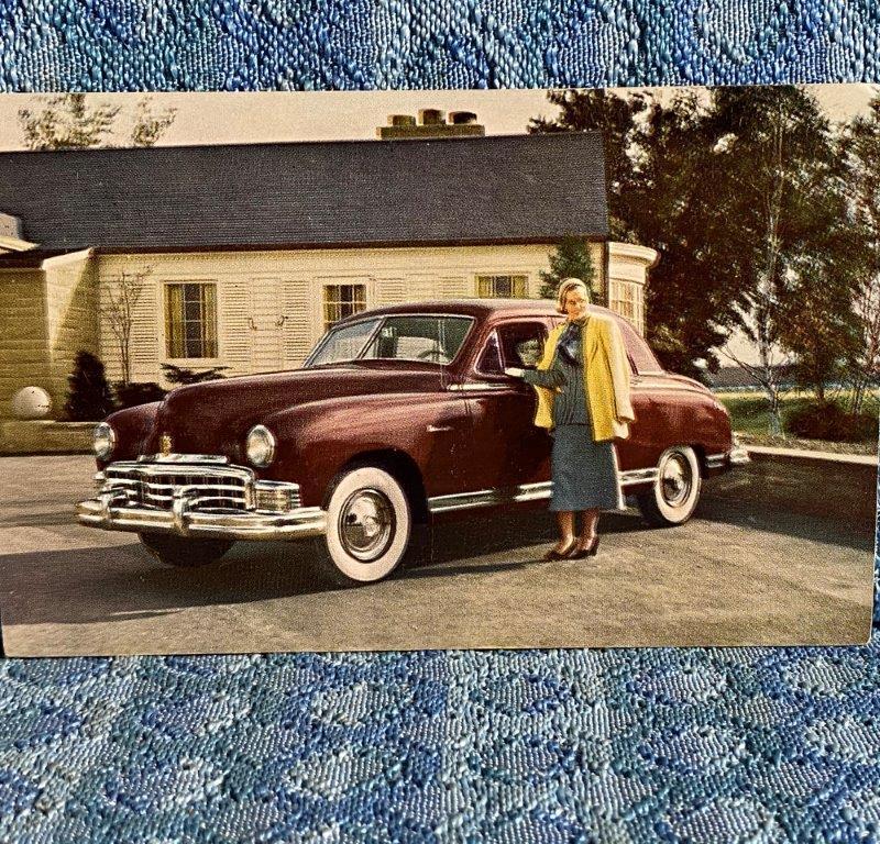 1949 Frazer Manhattan NOS Factory / Dealer Postcard