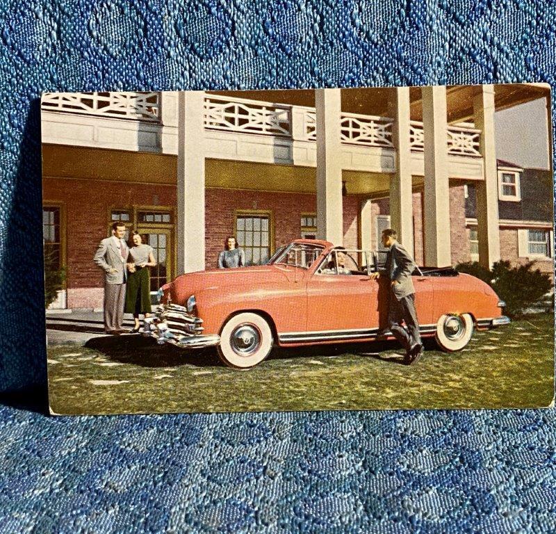 1949 Kaiser 4 Door Convertible NOS Factory / Dealer Postcard