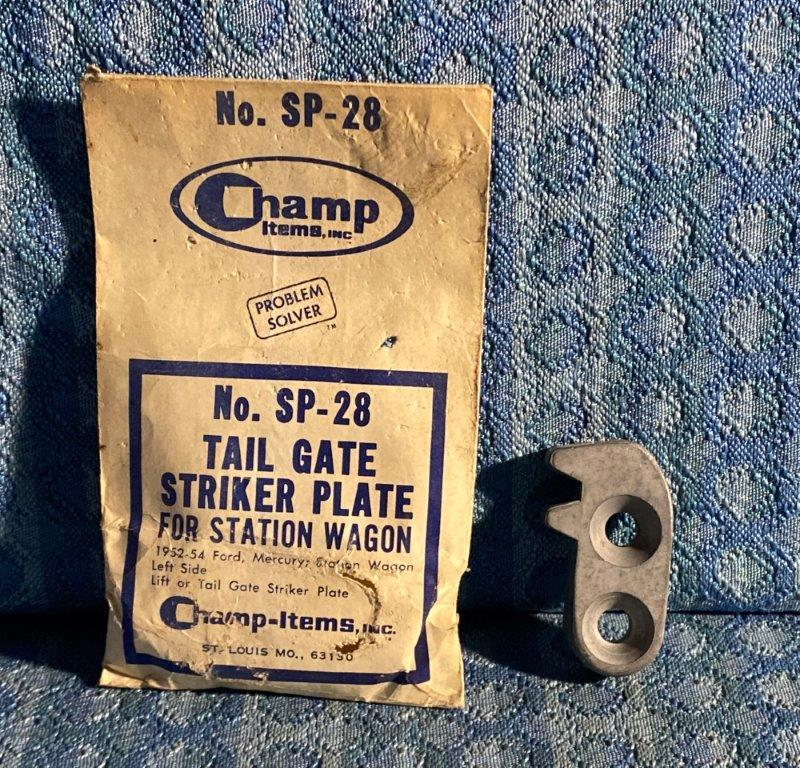 1952-1954 Ford Mercury Station Wagon SDN DEL 1953 NORS LH Tailgate Striker Plate