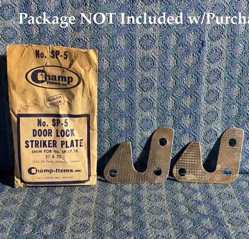 1955-1956 Ford Lincoln Mercury Pair of NORS Striker Plate Shims #SP-5