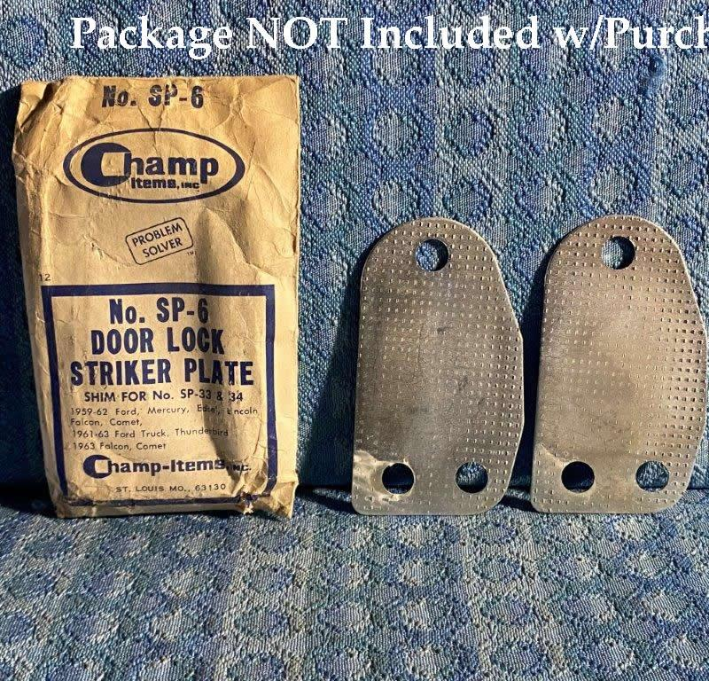 1959-1963 Ford Lincoln Mercury Edsel Truck PR of NORS Striker Plate Shims #SP-6