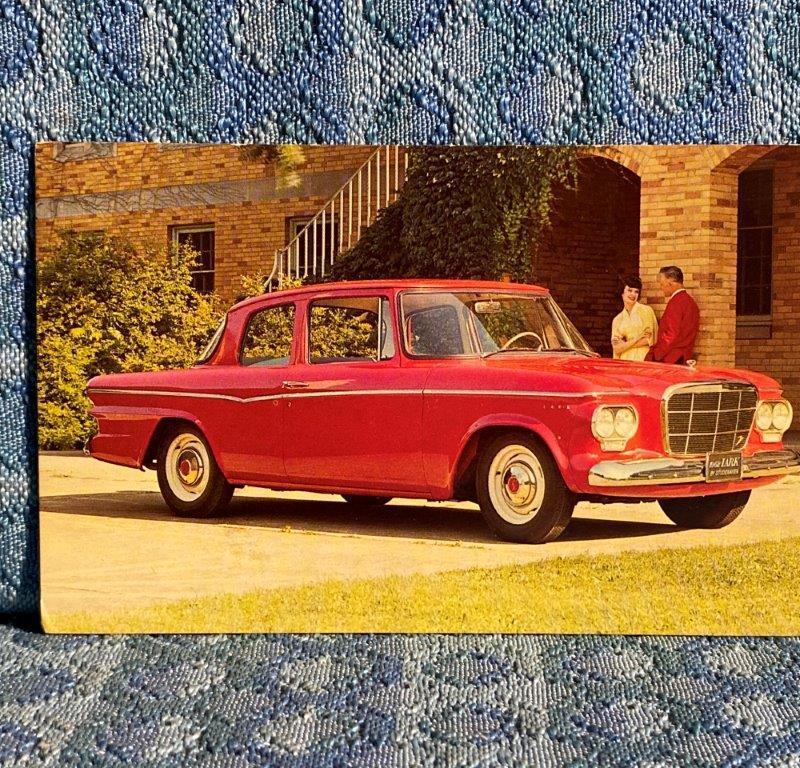 1962 Studebaker Lark 2 Door Sedan NOS Factory / Dealer Postcard