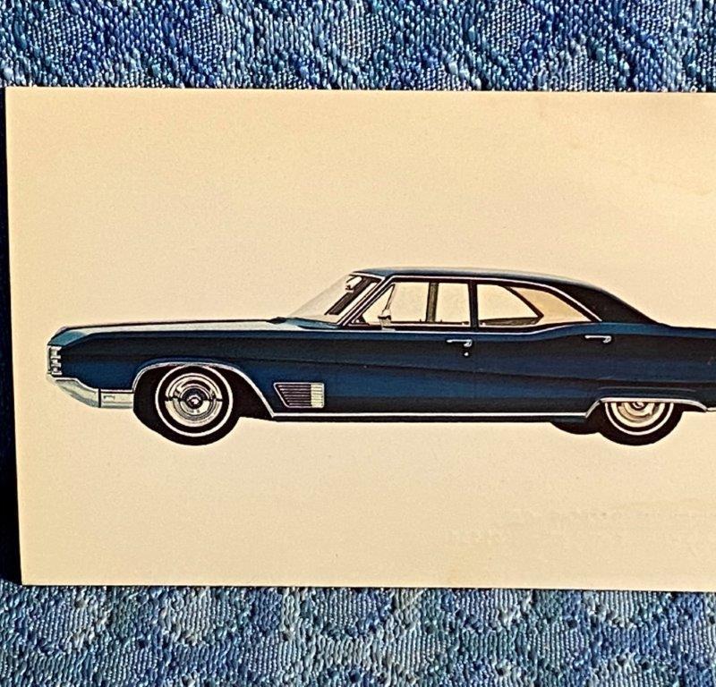 1968 Buick Wildcat 4-Dr Sedan NOS Factory/Dealer Postcard Sherer Buick Pekin IL