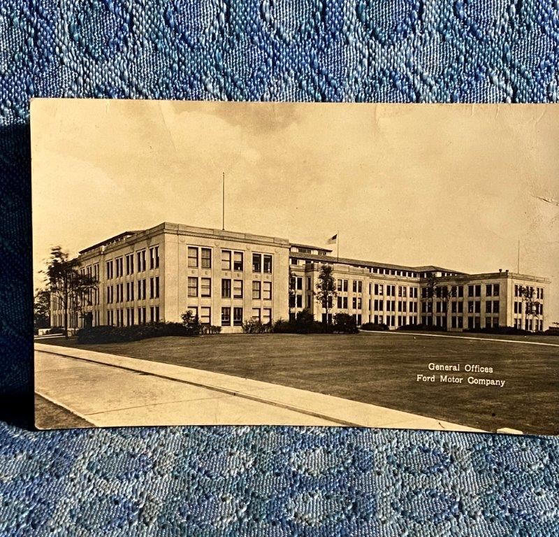 Cir 1930 Ford Motor Co General Offices Dearborn MI Original Real Photo Postcard
