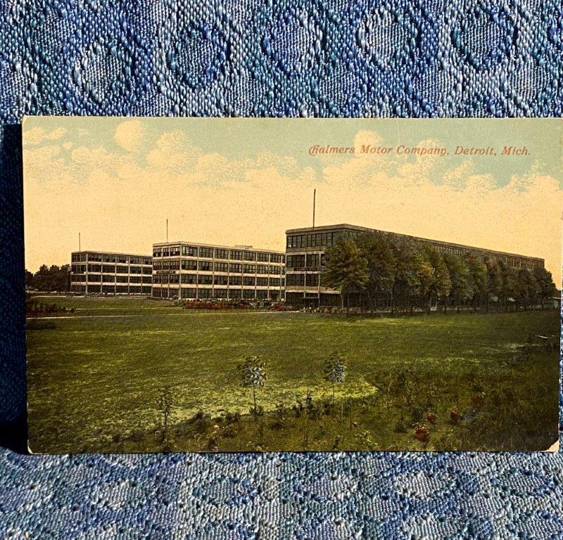 Circa 1910 Chamlers Motor Co. Factory Detroit Michigan Original Postcard Autos