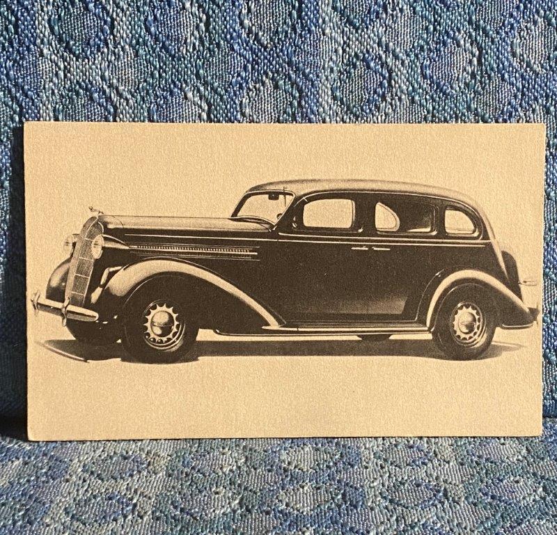 1936 Dodge 4 Door Sedan Postcard