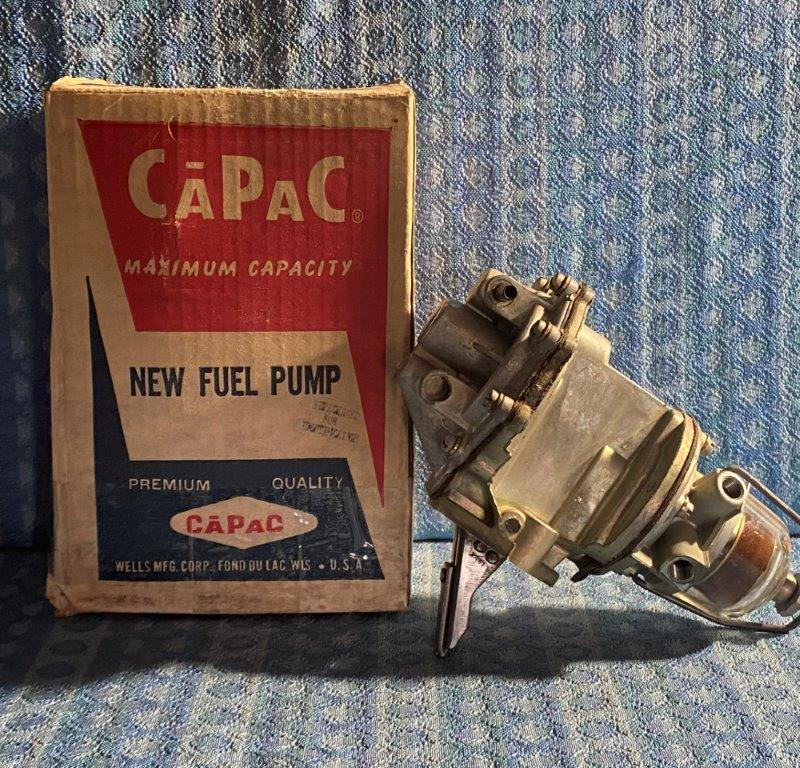 1952-1953 Ford 6-cyl NORS AC Dual Action Fuel / Vacuum Pump w/ Glass Bowl #9638