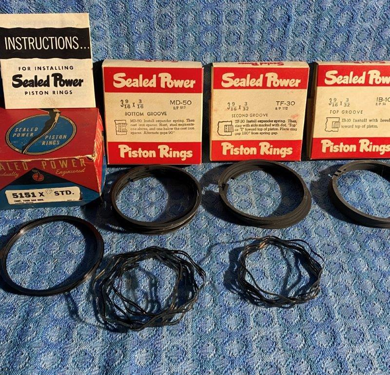 1953 Chevrolet 235 with Power Glide NORS Std Piston Ring Set #5151X