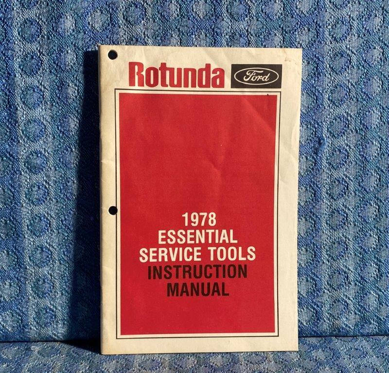 1978 Ford Original Essential Service Tools Instruction Manual