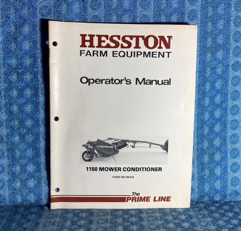 Hesston 1150 Mower Conditioner OEM Owners / Operators Manual