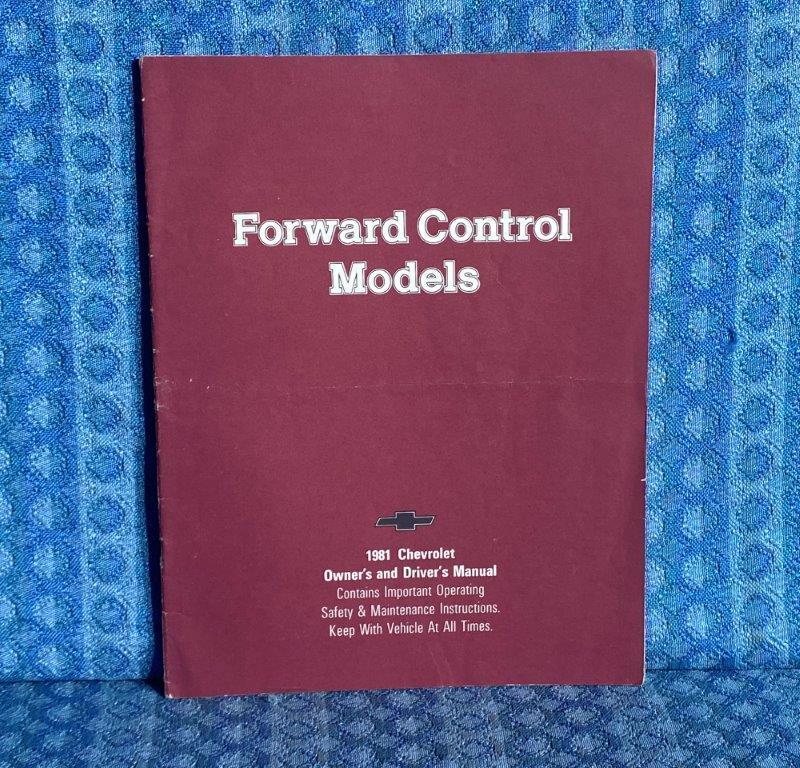 1981 Chevrolet Forward Control Truck Original Owners Manual Motorhome, Step Van