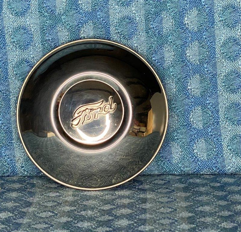 """1930-1931 Ford Model A Script Stainless Steel Hubcap for 19"""" Wheels"""