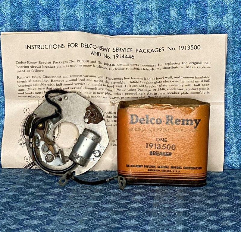 1937-49 Oldsmobile 1937-48 Pontiac 8 Cyl NOS Distributor Breaker Assy 1940 41 47