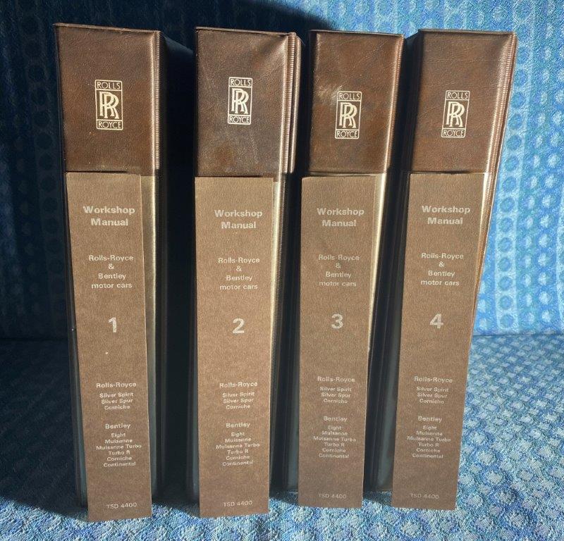 1985 Rolls Royce & Bentley OEM Workshop Manuals 4 Vol Set Corniche Spur Turbo